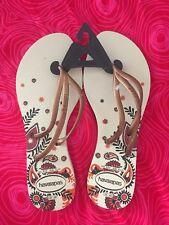 Havaianas Slim Damen Zehentrenner FlipFlop Strand Sandale 41/42 - NEU - Gold