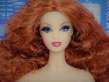 """""""APHRODITE"""" BARBIE Model Muse MM Body RED HEAD Rooted Lash NUDE 4 OOAK_NEW"""