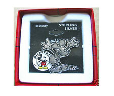 THE DISNEY STORE-MICKEY MOUSE SOLID STERLING SILVER BROOCH - GORGEOUS PIECE!!!