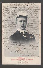 [58444] 1903 POSTCARD CROWN PRINCE WILLIAM of GERMANY