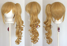 23'' Curly Pony Tail + Base Butterscotch Blonde Cosplay Wig NEW