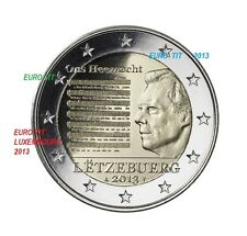 2 €   LUXEMBOURG  2013     1 X PIECE  NEUVE  HYMNE NATIONAL     DISPONIBLE