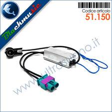 Adattatore antenna autoradio doppio FAKRA-ISO per VW Golf [5] 1K (2004-2009)
