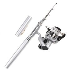 Mini Fishing Spinning models Pen Kit Rod travel Reel Combos Wheel Tool