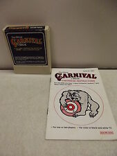 Atari 2600 Game Cartridge Carnival W/Manual
