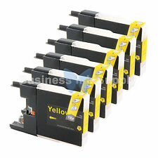 6 YELLOW LC71 LC75 Ink Cartridge for Brother MFC-J5910DW MFC-J625DW MFC-J6510DW