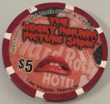 Hard Rock Hotel The Rocky Horror Picture Show $ 00006000 5 Casino Chips Las Vegas Nv