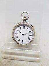 Antique solid silver ladies pocket watch c1900 working ref1057