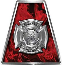 Firefighter Fire Helmet Tetrahedrons Set of 8 Red Inferno Maltese Cross FF020