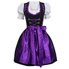 Gaudi-leathers Women's Set-3 Dirndl Pieces Embroidery 40 Purple/Black