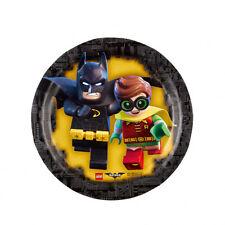 PACK 8 PLATOS DE CARTÓN 18CM BATMAN Y ROBIN LEGO (8849)