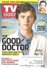 TV GUIDE~2/19/2018~THE GOOD DOCTOR~Freddie Highmore as Dr. Shaun Murphy~Magazine