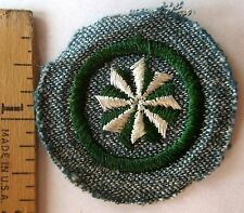 Vintage 1947 Girl Scout Active JUNIOR CITIZEN BADGE 8-Point Star Patch WHITE