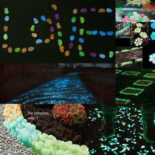 100pcs Glow Garden Aquariums Fish Tank Home Decor Luminous Stones Pebbles Rock