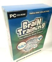 BRAND NEW FACTORY SEALED Ultimate Brain Training Triple Disc Collection PC CDROM