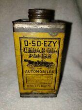 O-SO-EZY CEDAR OIL POLISH FOR AUTOMOBILES TIN