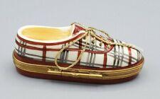 Rochard Designer Plaid Sneaker Limoges Box (Retired)