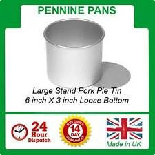 "Large Stand Pork Pie Tin / Mould 6"" With Loose Bottom Pennine  Pans mold"