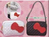 Hello Kitty mini Bag Pouch Ribbon Quilt style SANRIO kawaii New Japan