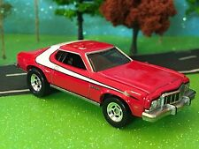 Ford Gran Torino, 1976, Red & White, Old School Muscle, Mattel, 1/64 Scale, FORD