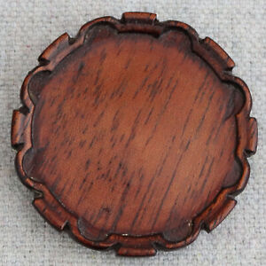 Vintage Artisan Dennis Jenvey Dollhouse Miniature Piecrust Table Top Tray 1:12