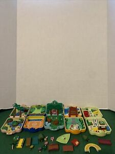 Pokemon Nintendo 1997 TOMY Mini Playset Polly Pocket lot of 5 vintage AS-IS