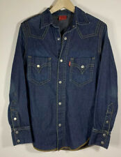 VTG Levi's Type I Denim Western Shirt Made in USA S