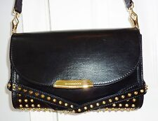 Gently Used Burberry Prorsum Bridle Black Leather Studded Cross Body $1200.00