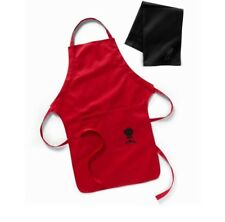 Weber 6477 Red Barbecue Apron with Black And White Towel Set