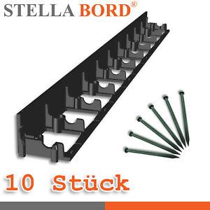 Stella Bord 10 X Bordure 6x100cm Enceinte de Lit Arête de Coupe + 50 Clous