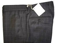NWT $1300 men BRUNELLO CUCINELLI 35 W WOOL/SILK DRESS PANTS SLIM FIT DK BROWN