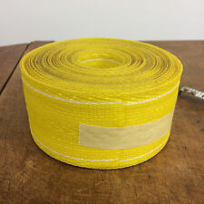 Vtg Lawn Chair Bench Fold Yellow Fabric Re Web Weave Roll Mid Century Material