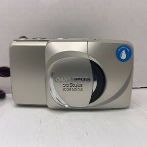 OLYMPUS INFINITY STYLUS ZOOM 140 DLX 35mm POINT & SHOOT FILM CAMERA TESTED Clean