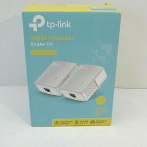 TP-Link AV600 Powerline Starter Kit - White
