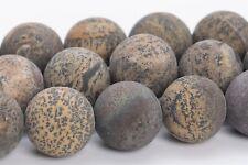 "12MM Natural Matte Dandelion Jasper Grade AAA Round Gemstone Loose Beads 14.5"""