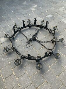 Medieval Style Wrought Iron Chandelier