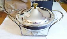 2 Quart Contemporary Food Warmer Gold & Silver  NEW IN BOX