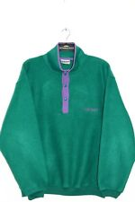 ADIDAS ORIGINAL 80'S VINTAGE SPELL OUT GREEN FLEECE JUMPERS,RETRO,SIZE:XL