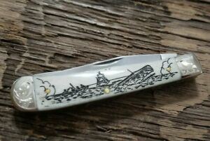 2015 Case XX 6254 Smooth White Bone Moby Dick Scrimshaw 91005MD SMKW EXCLUSIVE