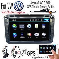 """8"""" 2din Car DVD for VW GOLF 5 Golf 6 POLO PASSAT CC JETTA TIGUAN TOURAN GPS +CAM"""