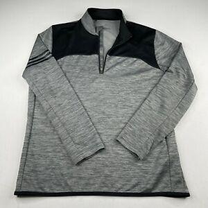 adidas Golf 1/4 Zip Pullover Jacket Mens Large Active Long Sleeve Shirt