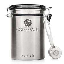 Coffee Canister Vault Designed Stainless Steel Airtight Sealed Storage Container