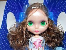 "Basaak Doll Blythe Clone 12"" Brunette Brown Hair Eye Change Dress Shoes New"