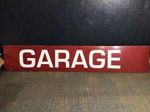 Vintage Wooden Garage Sign Large Advertising Sign