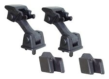 Crown Automotive 55176636K2 Hood Latches, Rubber, Black, Jeep, Pair 97-06 TJ