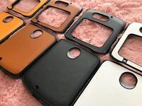 GENUINE LEATHER ostrich pattern Phone case with bottom bumper for Motorola razr 5G 2020