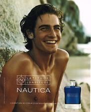 PUBLICITE ADVERTISING 075  2001  NAUTICA  parfum homme avec ROBERT KONJIC