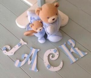 *ANY NAME & ANY COLOUR* Personalised Wooden Bedroom Door or Toy Box Letters #19#