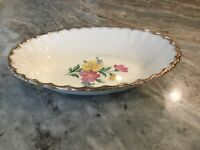 Golden Floral by Nasco China OVAL SERVING BOWL, 22 Kt. Gold, USA