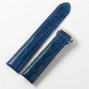 19 20mm Business Prestige Genuine Leather Watchband Strap Fit for Omega DeVille